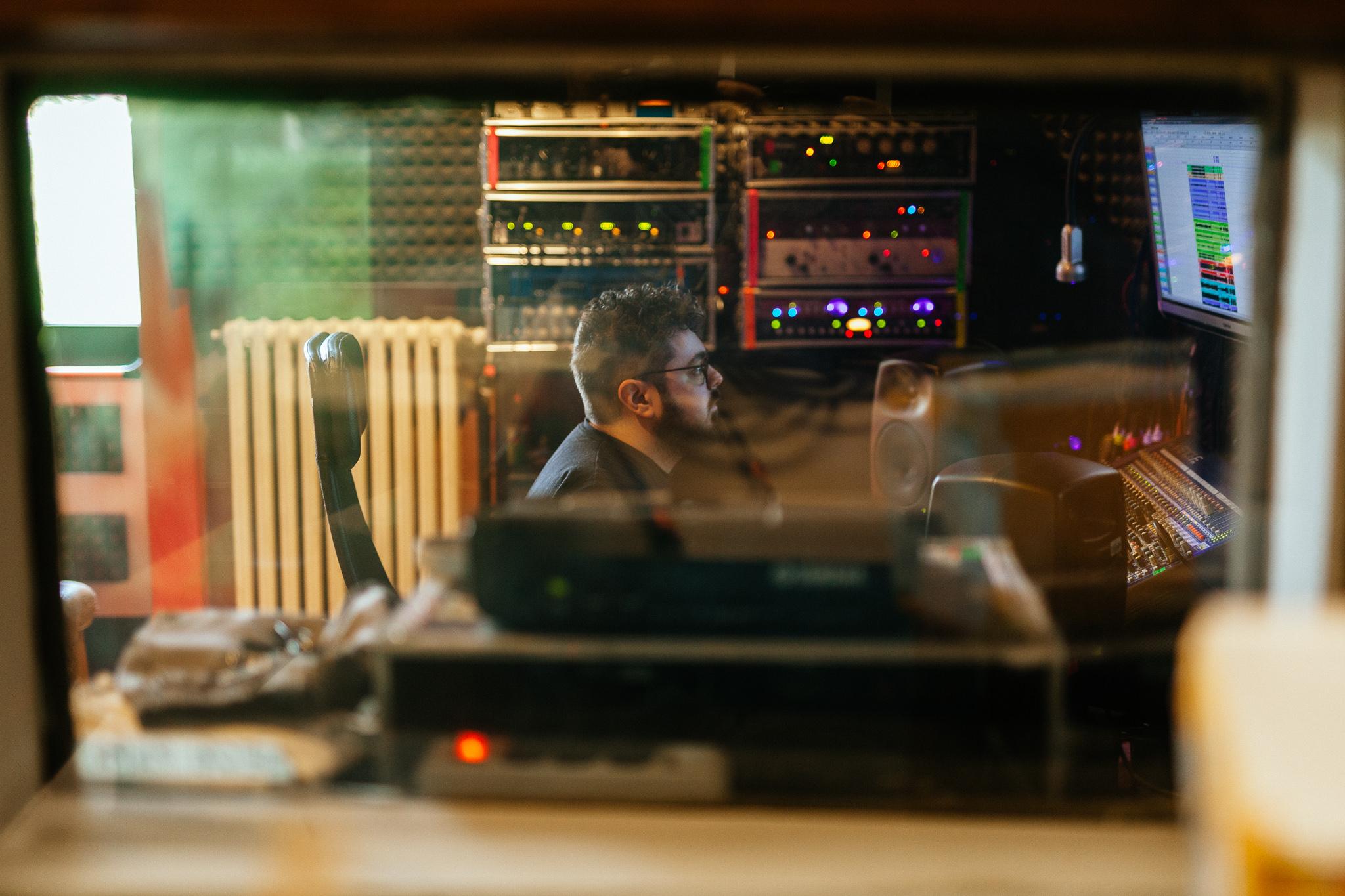 foto studio di registrazione